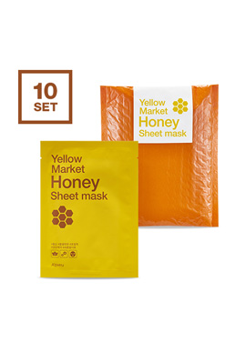 Apieu Yellow market honey sheet mask set (10 bundles)(請同規格20入為單位下單)