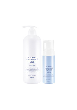 Apieu Calming Cica Bubble Toner Azulen (large capacity) _ set(請同規格4入為單位下單)