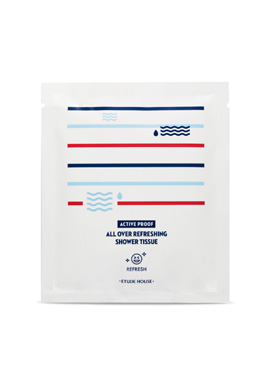 Etude House active proof all over refreshing shower tissue