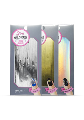 Etude House Play Nail Sticker No. 2 Gold Line/No. 3 Silver Line