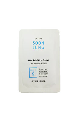 Etude house soonjung moist relief all in one gel 多功能面霜 4ml(試用包)