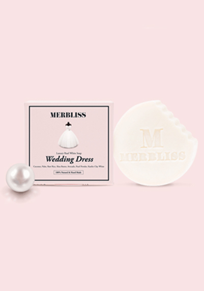 MERBLISS NEW珍珠天然潔顏皂Pearl natural soap wedding dress (100g)