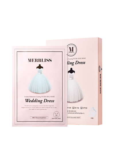 MERBLISS NEW素顏補水婚紗蠶絲面膜 Wedding Dress Moisture Coated Nude Silk Mask(25g*5)